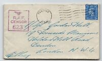 GB WWII RAF Censor 623 Cover to London / Egypt Base - Z13619