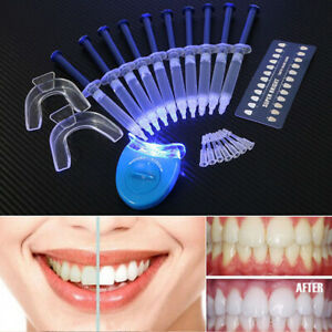 Pro Teeth Whitening Tooth Whitener LED Lights Oral Gel Dental Bleaching Kit Whit
