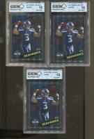 3 CT 2012 Russell Wilson Topps Chrome #14 Gem Mint 10 RC Rookie Seattle Seahawks