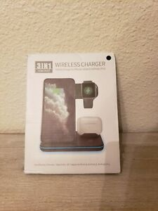 15W Fast Qi Wireless Charger Dock Stand 3in1 For iWatch 5/4/3/2/1 iPhone 11 XS 8