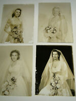 4 Old Ambrotype Bride Wedding Pictures 3 1/4 x 4 1/4 glass plate photographs b