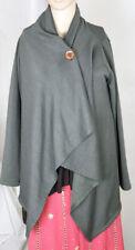 Bobeau Women's Cardigan Fleece Sweater Size S/P Super Soft Greenish Gray