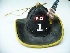 Vintage Firefighter Helmet Christmas Ornament