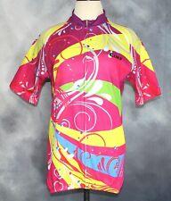 Cheji Race Rainbow Spring Ride Full Zip Cycling Jersey Women's Size XXL