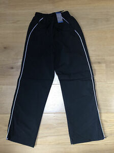 School PE Sports Trousers Black Zip Ankle 10 Years NEW Matalan Shower Resistant