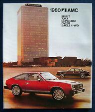 Prospekt brochure 1980 AMC Spirit AMX Concord Pacer Eagle  (USA)