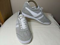GOLA HARRIER womens trainers Size 5 grey suede leather with white trim