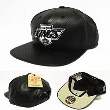 LA Los Angeles Kings Snapback Hat Faux Leathe American Needle Cap Blackout Colos