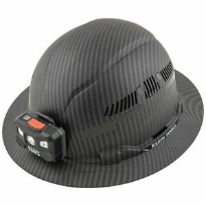 Klein Tools 60347 Hard Hat, Premium KARBN™, Vented Full Brim, Class C