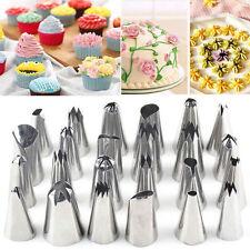 24 Piezas + Adaptador un. Glaseado tuberías Boquillas Tool Set-Azúcar Artesanía Decoración Pastel Cupcake