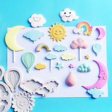 Rainbow Cloud Fondant Cake Silicone Mold Mould Tool Sugarcraft Chocolate Baking