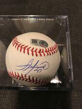 Francisco Liriano AUTO signed Rawlings OML baseball MLB Authenticated Sticker