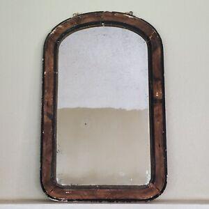 Antique FARMHOUSE Late 1800s Mirror ART Wood Frame 19x30 Inch