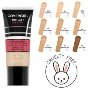 NEW Covergirl Outlast Active 24 HR Foundation + Sunscreen Choose Your Shade