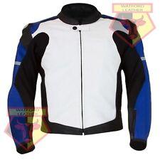 Suzuki 1078 Blue Motorbike Motorcycle Biker Cowhide Racing Real Leather Jacket