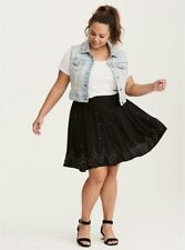 NEW NWT Torrid Black Embellished Stretch Challis Skirt Size 2 (18/20)