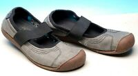 KEEN MARY JANE GRAY CANVAS SLIP ON CASUAL SHOES WOMENS 7 EU 37.5 EXCELLENT