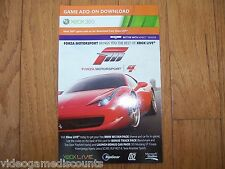 Forza Motorsport 4 DLC Code Xbox 360 Bonus Track & Car Pack - VALID AND WORKING!