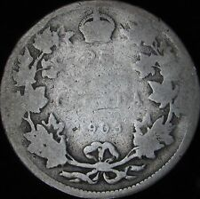 1903 Good Canada Silver 25 Cents - KM# 11 - Free Shipping - JG