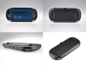 Black Carbon Fiber Vinyl Decal Skin Sticker for Sony PlayStation PS Vita PSV