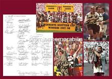 HEART OF MIDLOTHIAN FC HEARTS FC 1998 SCOTTISH CUP FINAL SIGNED (PRINTED) PRINT