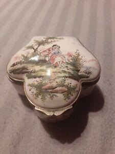 Ancienne boîte coffret céramique Faience veuve perrin marseille 18eme 19ème