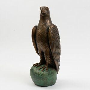 "Signed James Siebert Eagle Bronze Sculpture Limited Edition #26/500, 17"" Tall"