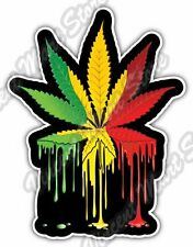 "Marijuana Cannabis Pot Weed Rasta Paint Car Bumper Vinyl Sticker Decal 4""X5"""