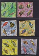 BURUNDI 1974 Sc# 449-450 and C207-C212 set nice lot of 8 old used FISH (012)