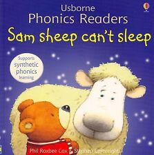 Usborne Phonics Readers Sam Sheep Can't Sleep by Phil Roxbee Cox NEW (P/B 2006)