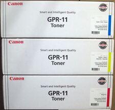 Set of 3 New SEALED BAG Genuine Canon GPR-11 Toner Cartridges GPR11 C M Y