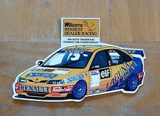 1996 BTCC Williams Renault Distribuidor Racing Laguna carrera Motorsport STICKER/DECAL