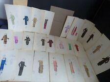 LOUISE CHERUIT 25 DESSINS ORIGINAUX COULEUR HAUTE COUTURE 1920's MODE ART DECO
