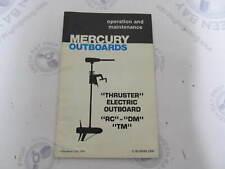 90-89089 Mercury Thruster Outboard Operation & Maintenance Manual RC DM TM