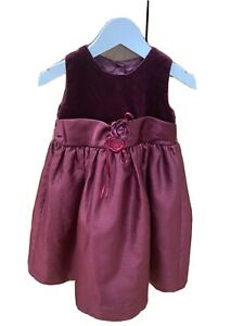 Baby Girl Sleeveless Party Dress/Bridesmaid In Purple From NEXT 12-18 Months