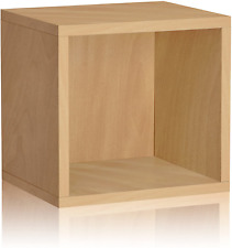 Way Basics Eco Stackable Connect Open Storage Cube and Cubby Organizer, Natural