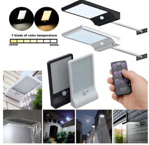 36/48 LEDs Solar Power Light PIR Motion Sensor IP65 Waterproof with Remote