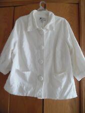 CAROLE LITTLE Size 18 Ivory  Corduroy Blazer Jacket