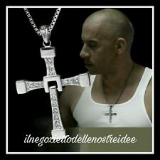 FAST and FURIOUS 8 9 Vin diesel Dominic Toretto's CROSS Croce collana Necklace