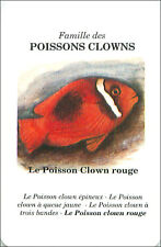 PLAYING CARD CARTE A JOUER FISH Amphiprion frenatus Poisson-clown rouge