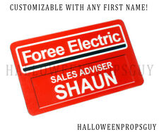 SHAUN of the DEAD Style Pin Badge Custom PVC Name Tag - Customize with Name