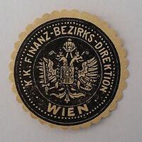 Siegelmarke Vignette K. K. Finanz Bezirks Direktion Wien (7197)