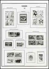 V Harris Canada Stamp Album-B&W-New-1851-2018-2 Vol w/binders-Complete w/provs