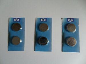 6 x CR2032 Lithium Cell 3V, Batteries, UK Seller.