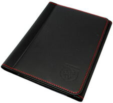 ABARTH MANUALE documento Wallet Holder Nero con cuciture rosse NEW GEN 53008546