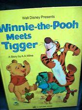 Walt Disney Winnie the Pooh Meets Tigger hardcover illustrated
