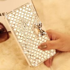 3D Bling Diamond Bowknot Sparkly Flip Wallet Case Cover for iPhone 11 12 SE 7 8