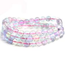 5mm Natural Purple Fluorite Angel Beads Bracelet Handmade Crystal Stone Jewelry