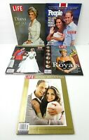 The Royals Diana Will & Kate Wedding Lot of 5 Time Life Specials People