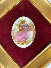 Pair ofVintage Framed Porcelain Victorian Courting Couple B & S Creations, N.Y